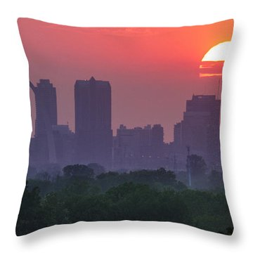 Sun Setting Over St Louis Throw Pillow by Garry McMichael