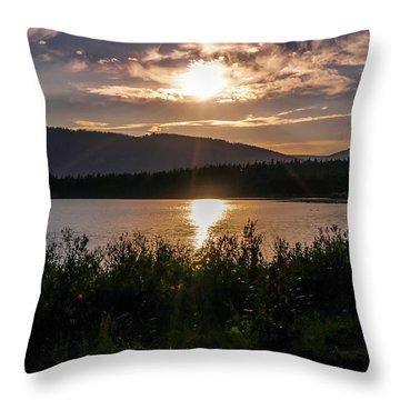 Sun Setting Throw Pillow