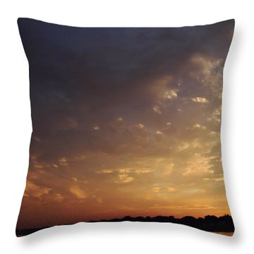 Sun Settles On Connecticut Throw Pillow by Karol Livote