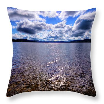 Throw Pillow featuring the photograph Sun Shining Over Palmer Point by David Patterson