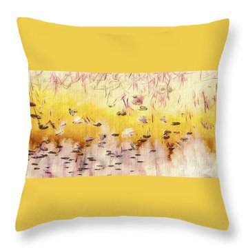 Sun Shower Throw Pillow by William Wyckoff