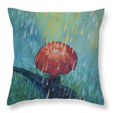 Sun Showers Throw Pillow