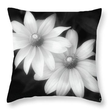 Sun Sisters In Black And White Throw Pillow