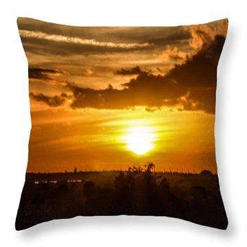 Sun Slowly Decending Throw Pillow by Nance Larson