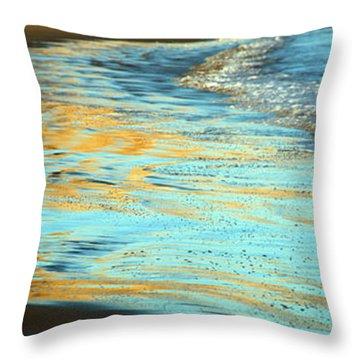 Sun Splashed Waves At Point Reyes National Seashore California Throw Pillow by Wernher Krutein