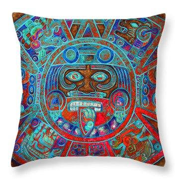 Sun Stone Throw Pillow by J- J- Espinoza