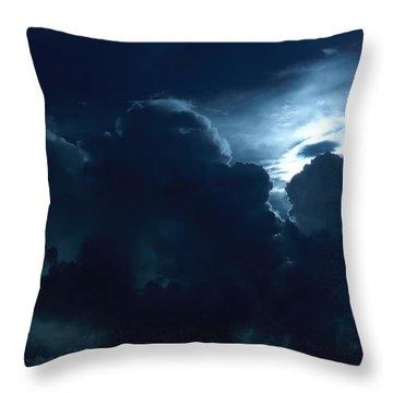 Sun Storm Throw Pillow by John Glass