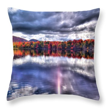 Throw Pillow featuring the photograph Sun Streaks On West Lake by David Patterson