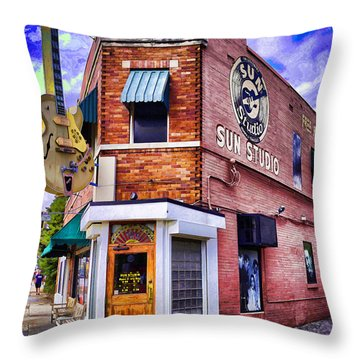 Sun Studio Throw Pillow by Dennis Cox WorldViews