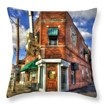 Sun Studio Rock N Roll Birthing Place Memphis Tennessee Art Throw Pillow