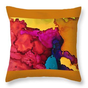 Sun Through The Boulders Throw Pillow