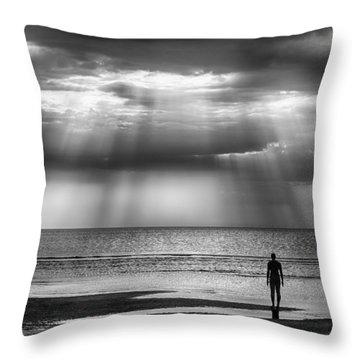 Sun Through The Clouds Bw 11x14 Throw Pillow