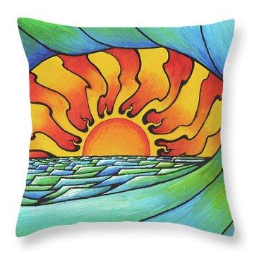Sun Through The Curl Throw Pillow