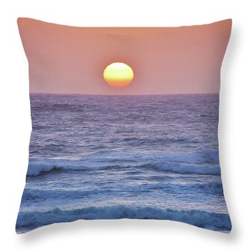Sun To Sea Throw Pillow by Michele Penner