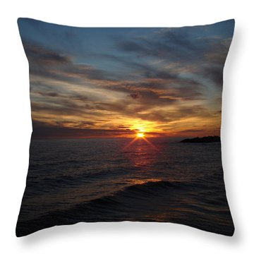 Throw Pillow featuring the photograph Sun Up by Bonfire Photography