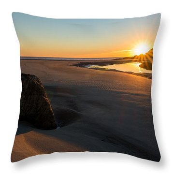 Throw Pillow featuring the photograph Sun Up Good Harbor by Michael Hubley