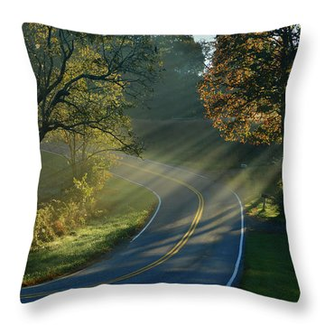 Sun-up On Conners Grove Throw Pillow