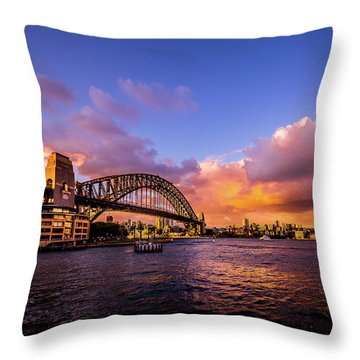 Throw Pillow featuring the photograph Sun Up by Perry Webster