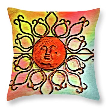 Sun Wall Decoration Throw Pillow