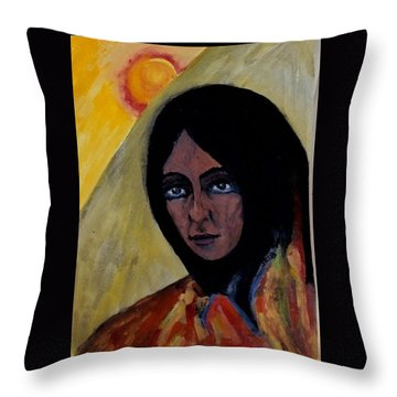 Sun Woman Throw Pillow