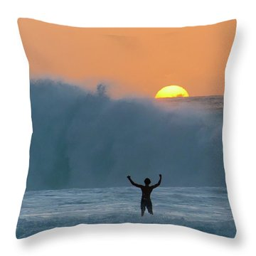 Sun Worship Throw Pillow
