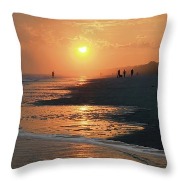 Sun Worshipers Throw Pillow