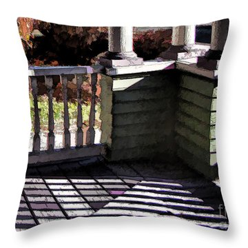 Throw Pillow featuring the photograph Sun Writ by Betsy Zimmerli