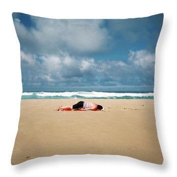 Throw Pillow featuring the photograph Sunbather by Nik West