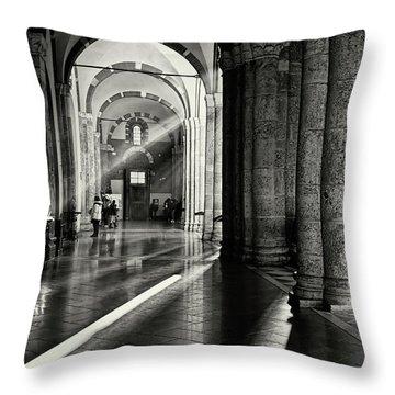 Sunbeam Inside The Church Throw Pillow