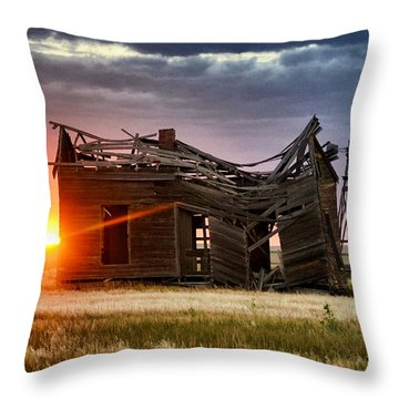 Sunbeam Light Throw Pillow by Clarice  Lakota