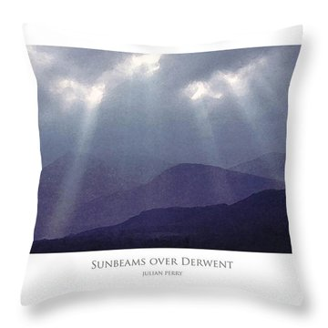Throw Pillow featuring the digital art Sunbeams Over Derwent by Julian Perry