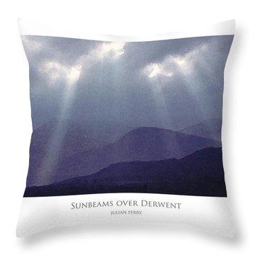 Sunbeams Over Derwent Throw Pillow
