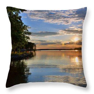 Sunburst At Sundown Throw Pillow