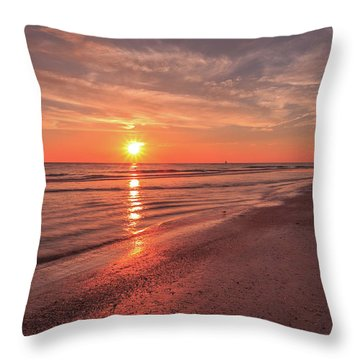 Sunburst At Sunset Throw Pillow