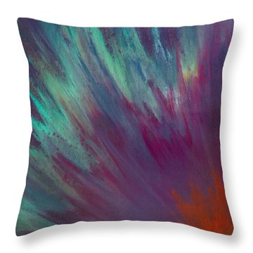 Sunburst Aura Throw Pillow