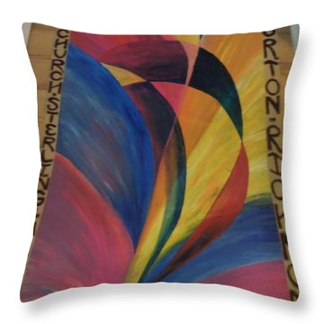 Sunburst Floorcloth Throw Pillow