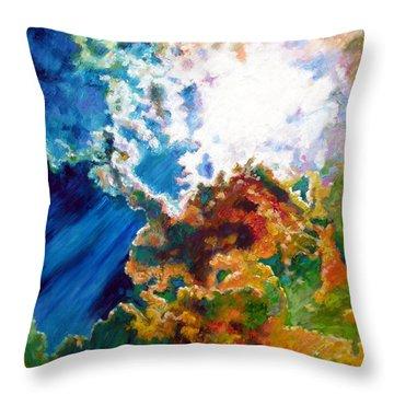 Sunburst Throw Pillow by John Lautermilch