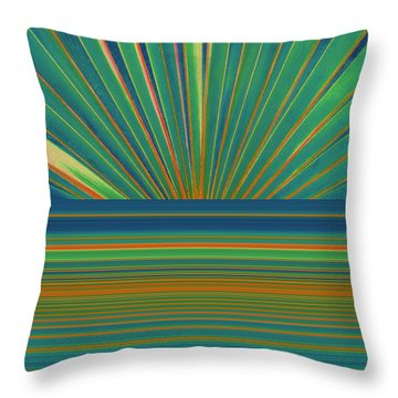 Throw Pillow featuring the photograph Sunburst by Michelle Calkins