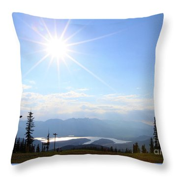 Sunburst Over Lake Dillon Throw Pillow
