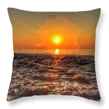 Sunburst Sundown Throw Pillow by Nick Heap