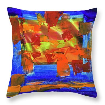 Throw Pillow featuring the painting Sunburst by Walter Fahmy