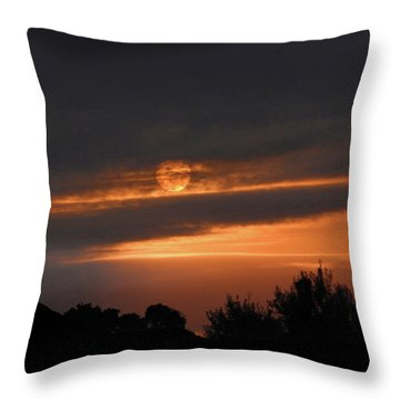 Throw Pillow featuring the photograph Suncloud by Mark Blauhoefer