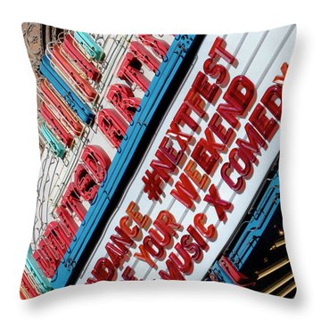 Sundance Next Fest Theatre Sign 2 Throw Pillow