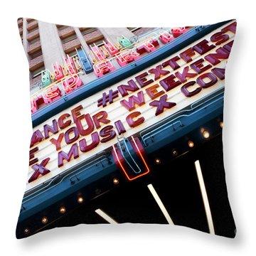 Sundance Next Fest Theatre Sign 3 Throw Pillow