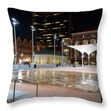 Sundance Square Fort Worth 3 Throw Pillow