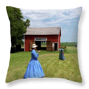 Sunday Afternoon At Chaplin Creek Throw Pillow by Sue Stefanowicz