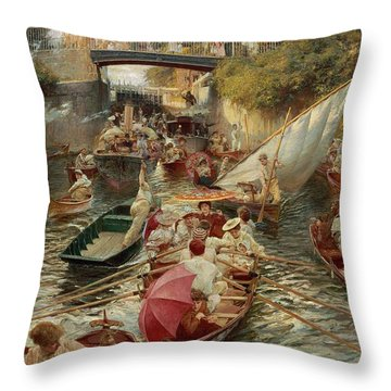 Sunday Afternoon Throw Pillow by Edward John Gregory