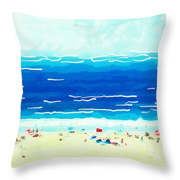 Sunday At Bondi Throw Pillow