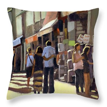 Sunday Bazaar Throw Pillow