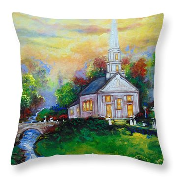 Sunday Throw Pillow